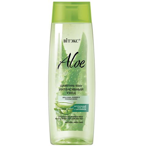 Витекс ALOE +7 ВИТАМИНОВ Шампунь-Elixir.Интенсивн.уход для сухих, ломких волос 400мл