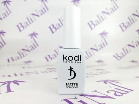 KODI, Матовое верхнее покрытие с кисточкой Matte Top Coat VELOUR, 8 мл