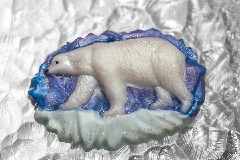 Мыло Белый медведь. Форма пластиковая