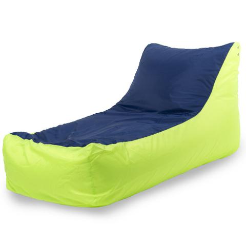 Кресло-мешок «Кушетка» Лайм-синий