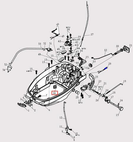 Заглушка 22*23 для лодочного мотора F9.8 Sea-PRO (2-14)