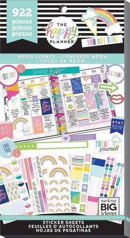Блокнот со стикерами Value Pack Stickers - Neon Lights- 922 шт