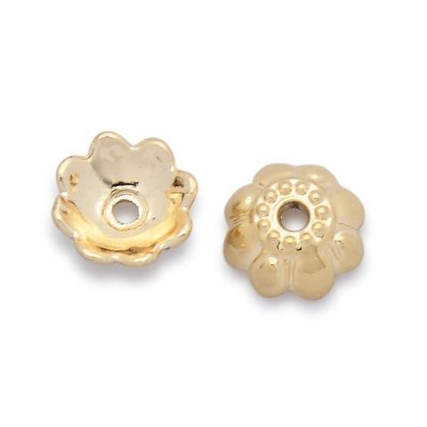 Шапочка 9x4 мм цвет золото