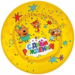 Тарелки Три Кота бумажные тарелки 6 шт/ 23 см 6014871.jpg