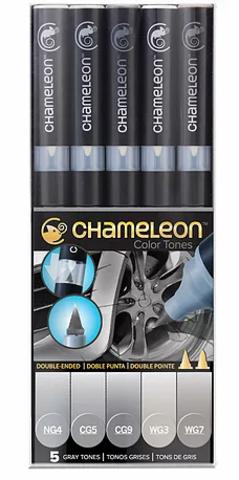 Набор маркеров Chameleon Gray Tones, серые тона, 5 шт.