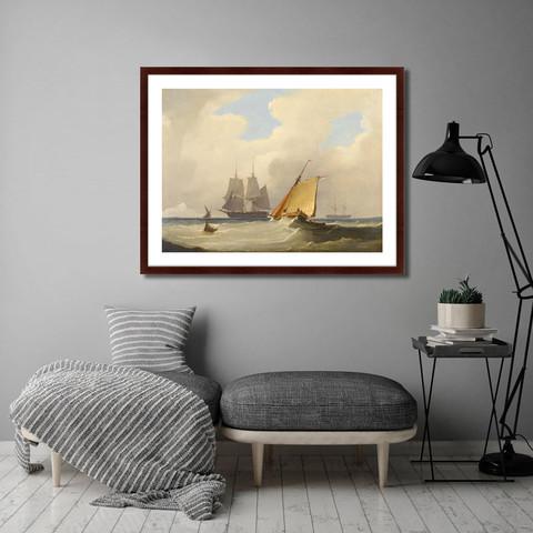 Уильям Джон Хаггинс - The sailboat, 1829г.