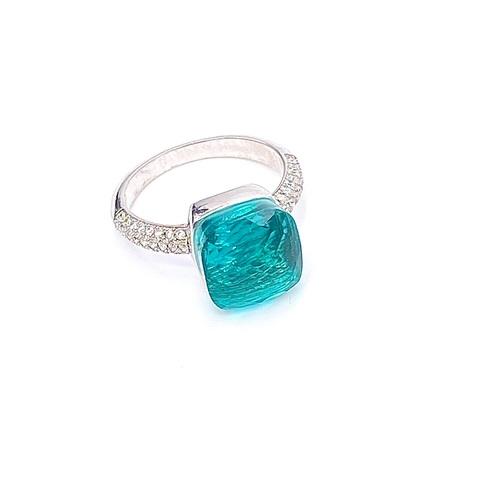 33307- Кольцо Caramel из серебра с кварцем и фианитами