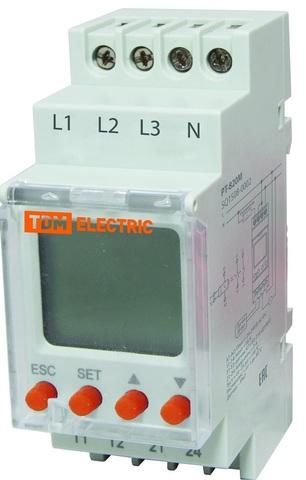 РН 12-3х400/230В (LCD-дисплей, 1нр+1нз-контакты) TDM