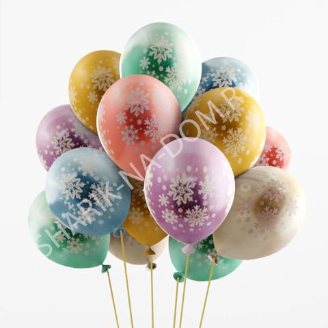 Воздушные шары на Новый Год Шары Снежинки Хром Воздушные_шары_Снежинки_хром.jpg
