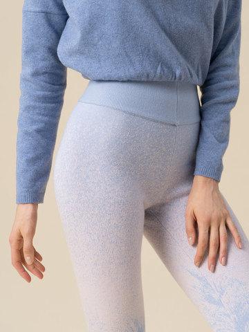Женские брюки мультиколор из кашемира и вискозы - фото 5