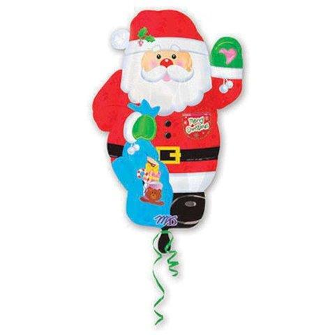 Фольгированный шар Санта