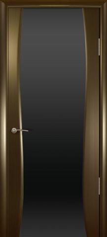 Дверь Буревестник-2 стекло тонированное (венге, остекленная шпонированная), фабрика Океан
