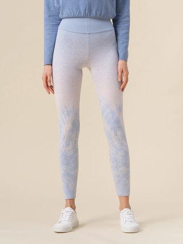 Женские брюки мультиколор из кашемира и вискозы - фото 4