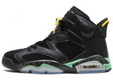 Кроссовки Мужские Nike Air Jordan VI Black Green Yellow