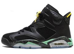 Кроссовки Мужские Nike Air Jordan VI Black Green Yellow