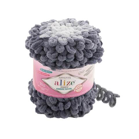 Купить Пряжа Ализе Пуффи Омбре Батик - цвет 7421   Интернет-магазин пряжи «Пряха»