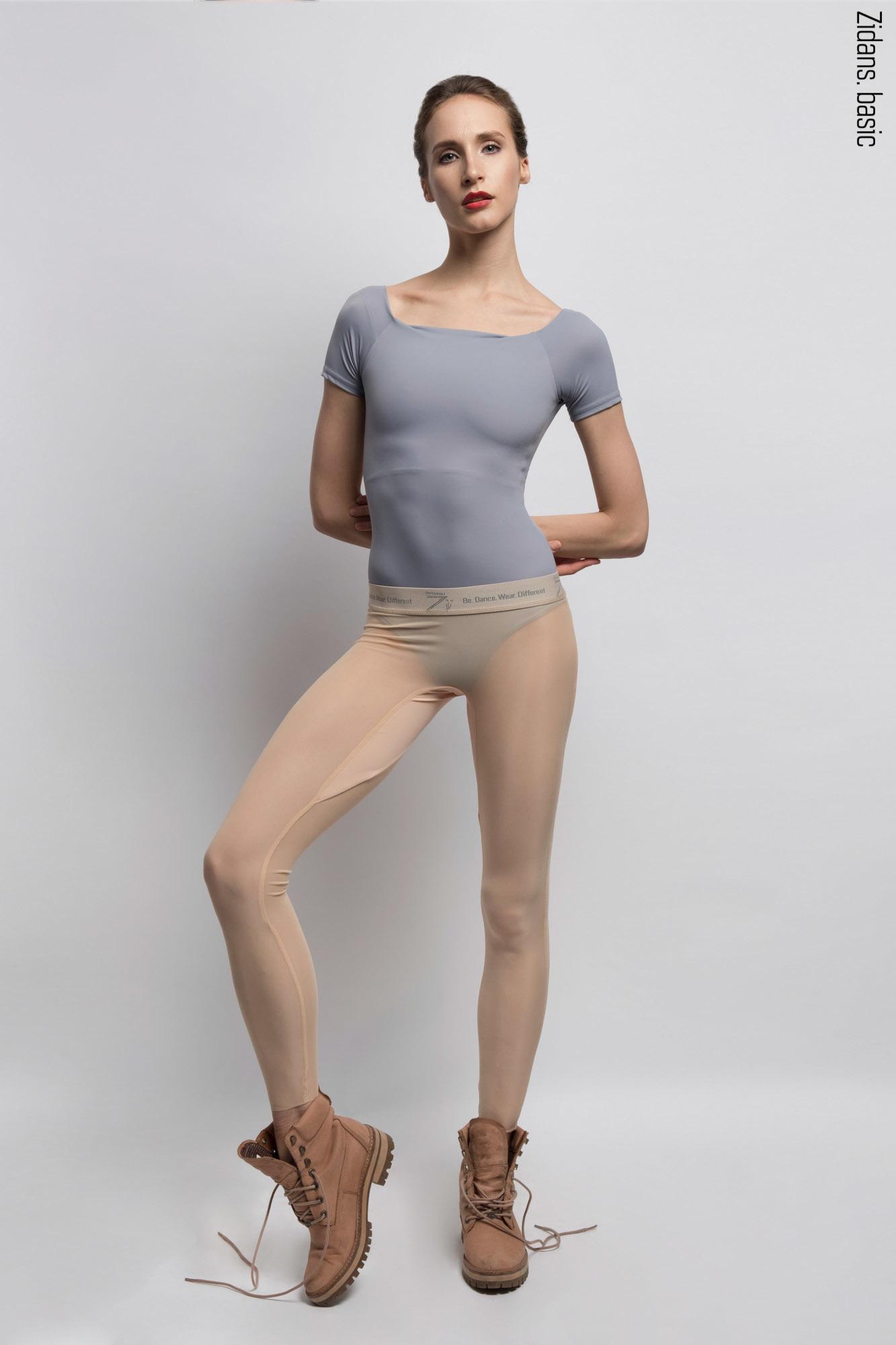 Translucent Ziphirus leggings Zold | nude