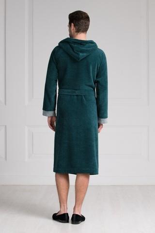 Мужской бамбуковый халат с капюшоном 11008-8 Laete Турция