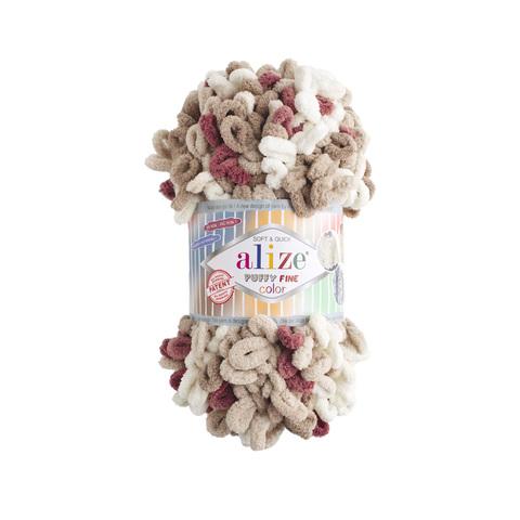 Купить Пряжа Ализе Пуффи Файн Колор Код цвета 6040   Интернет-магазин пряжи «Пряха»