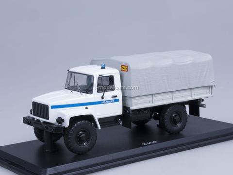 GAZ-3308 4x4 engine ZMZ-513 board with awning Police Start Scale Models (SSM) 1:43