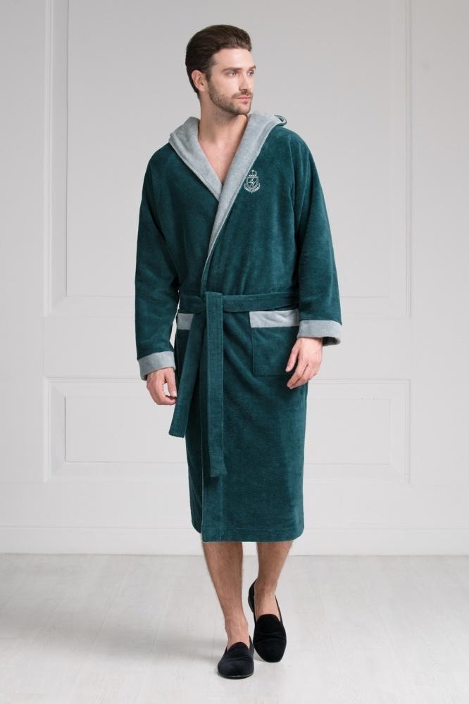 Халаты мужские Мужской бамбуковый халат с капюшоном 11008-8 Laete 11008-8.jpeg