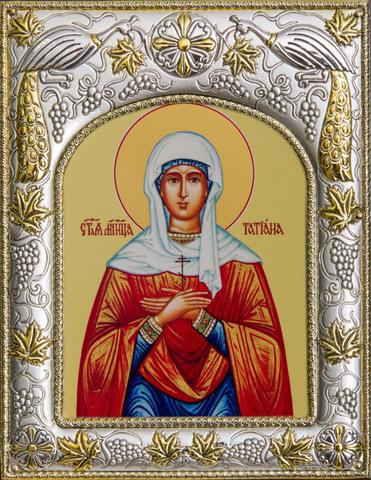 Серебряная икона именная Татиана 18x14см