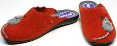 Фетровые тапочки женские Inblu NC- 1B Mouse Rad
