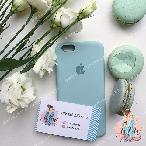 Чехол iPhone 6+/6s+ Silicone Case /mint/ мята original quality