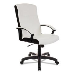 Кресло VB_DOMINUS-WH экокожа белая, ткань черная