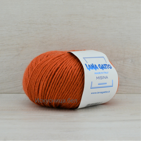 Пряжа Misina (Мисина) Темно-оранжевый. Артикул: 8433