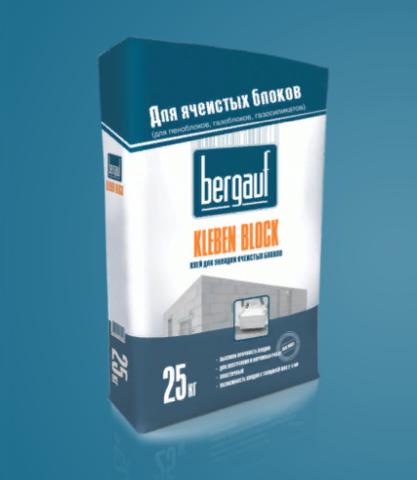 Клей для плитки Бергауф Клебен блок Зима 25 кг