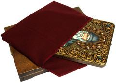 Инкрустированная икона Паисий Святогорец 29х21см на натуральном дереве в подарочной коробке