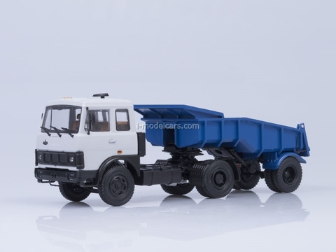MAZ-5432 with semitrailer MAZ-5232V gray-blue AutoHistory 1:43
