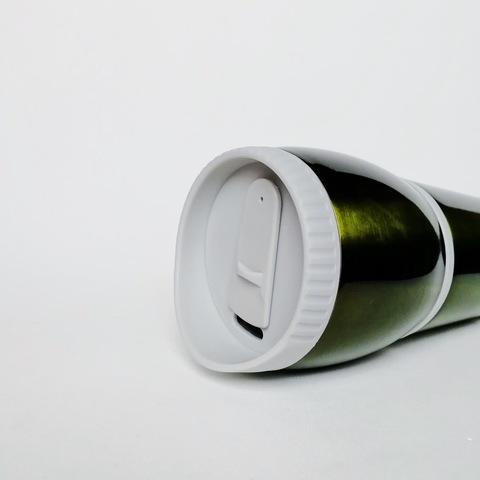 Термокружка «Арктика» 400 мл, зелёная с искрой