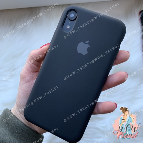 Чехол iPhone XR Silicone Case /black/