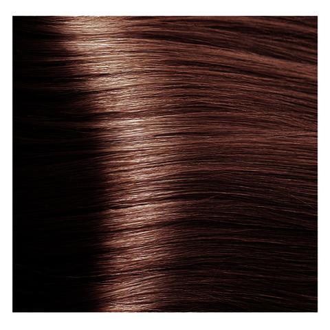 Крем краска для волос с гиалуроновой кислотой Kapous, 100 мл - HY 5.4 Светлый коричневый медный