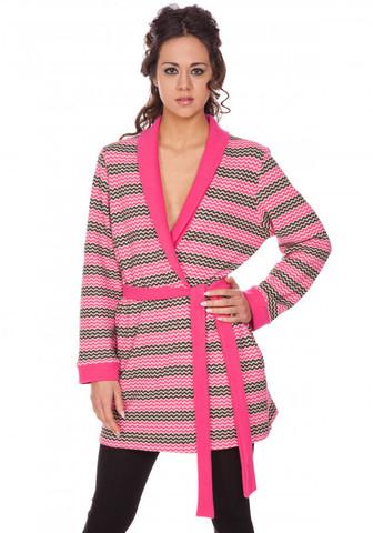 Короткий женский халат-жакет