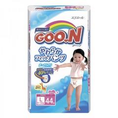 """Трусики-подгузники """"Goon"""" японские для девочек размер L (вес 9-14кг) 44шт"""