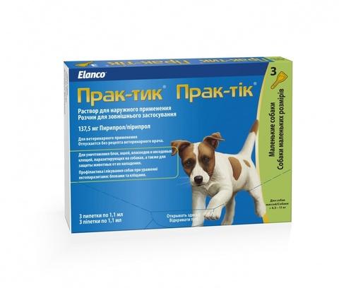 Prac-Tic Капли от блох и клещей для собак 4,5-11кг (1 штука)