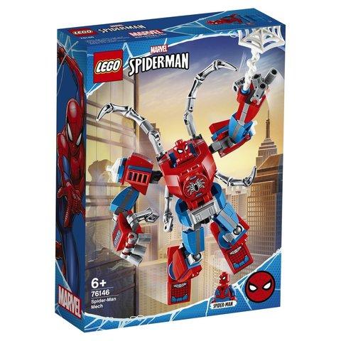 LEGO Super Heroes: Человек-Паук: трансформер 76146 — Spider-Man Mech — Лего Супергерои Марвел