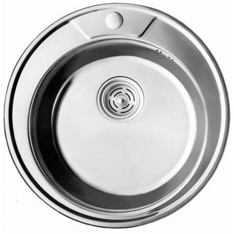 Мойка круглая CRISTAL врезная 490х180 7104