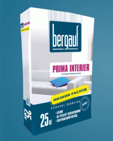 Штукатурка премиум Бергауф Прима Интерьер 25 кг