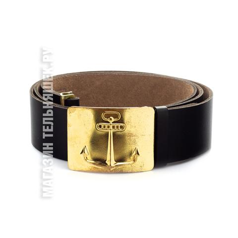 Купить ремень кожаный черный - Магазин тельняшек.ру 8-800-700-93-18