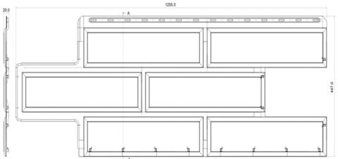Фасадная панель Альта Профиль Камень венецианский Коричневый 1250х450 мм