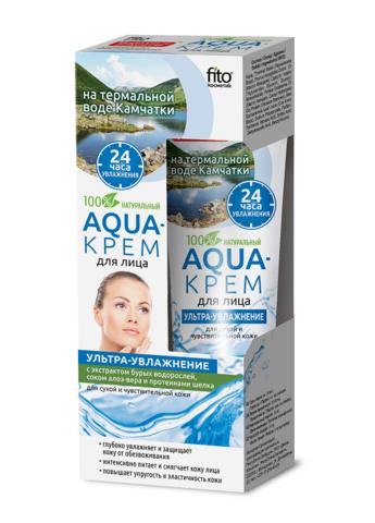 Фитокосметик Народные рецепты Aqua-крем для лица Ультра-увлажнение для сухой и чувствительной кожи 45мл
