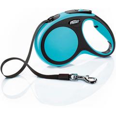 Flexi поводок-рулетка New Comfort S (до 15 кг) лента 5 м (черный/синий)