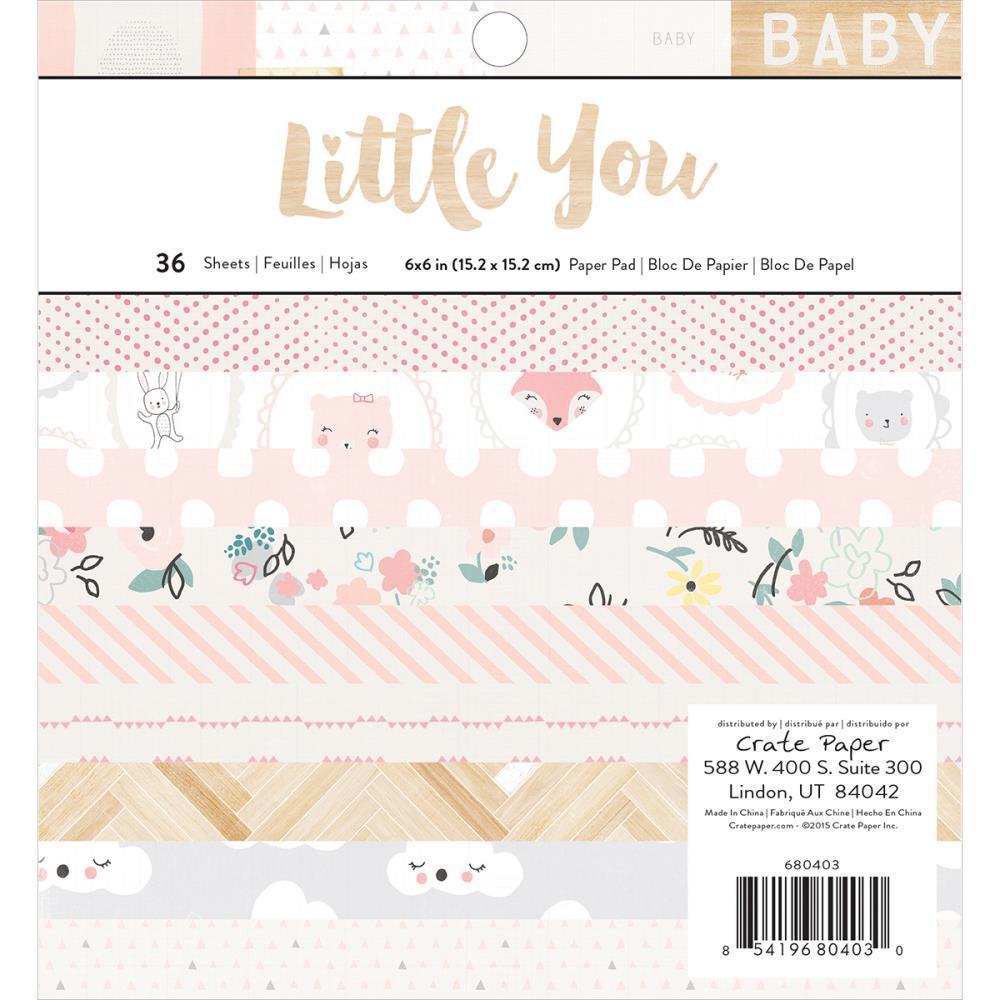 Набор бумаги 15*15 см Little you by Crate Paper