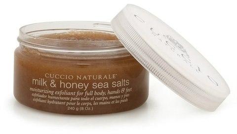 Морская соль (скраб молоко-мед)  для СПА-ухода за кожей рук и тела 240 г