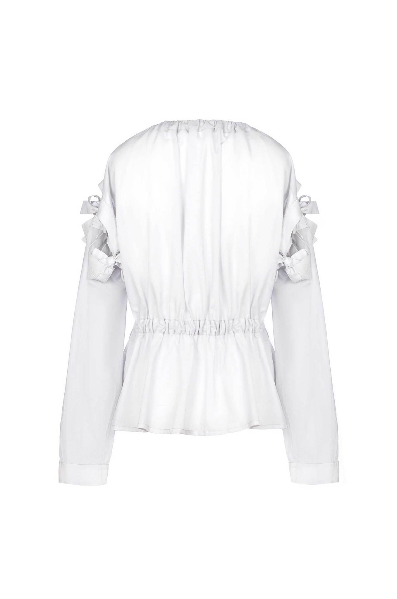 Серая блуза-трансформер