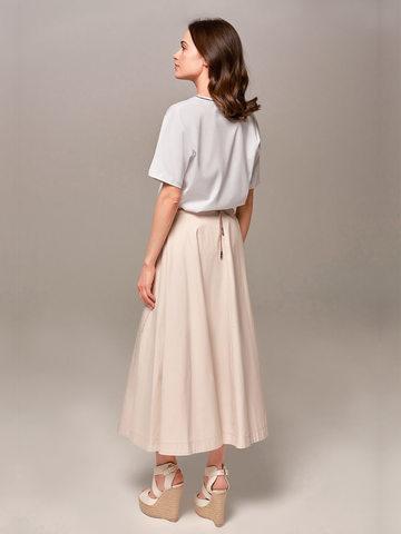 Женская юбка песочного цвета Eleventy - фото 2